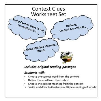 Context Clues  - Nine Worksheet Set