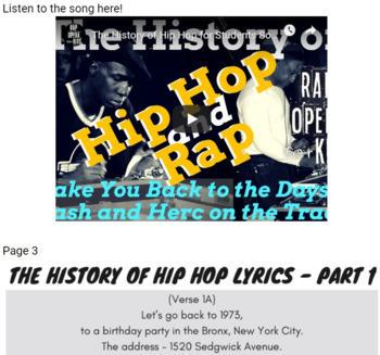 Google Forms Reading Context Clues Nonfiction Passage Questions Using Rap Song