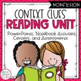 Context Clues Nonfiction Reading Unit With Centers