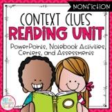 Context Clues Nonfiction Reading Unit With Centers