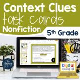 Context Clues Nonfiction Task Cards 5th Grade I Google Sli