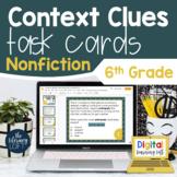 Context Clues Nonfiction Task Cards 6th Grade I Google Sli