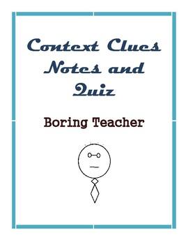 Context Clues Notes and Quiz L4.4