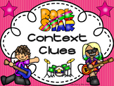 Context Clues Pack--Posters--Exit Ticket--Graphic Organizer--Rock Star Theme!