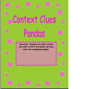 Context Clues Panda Expository Text!