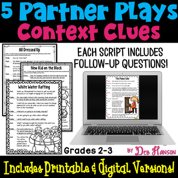 Context Clues Partner Plays (2nd and 3rd grades)
