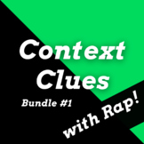 Context Clues Passages and Activities Using History Rap Songs Bundle #1