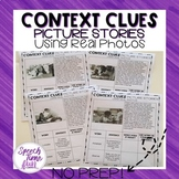 Context Clues Picture Stories Worksheets Using Real Photos