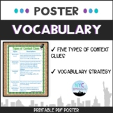 Vocabulary: Types of Context Clues Poster