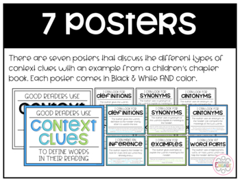 Context Clues Poster: Helping Readers Define Unknown Words