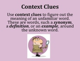 Context Clues Poster - Intermediate Elementary School Grades