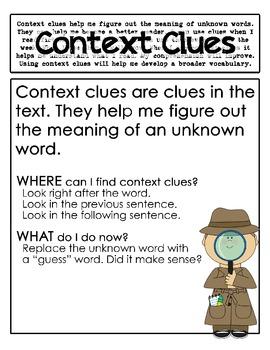 context clues worksheets 3rd grade