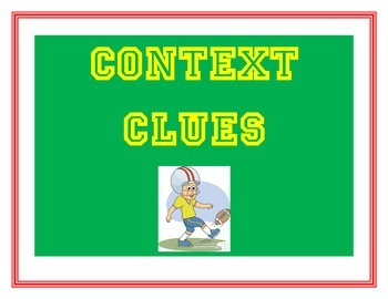 Context Clues Posters Football Themed