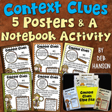 Context Clues Posters and Interactive Notebook Activity (2nd and 3rd grade)
