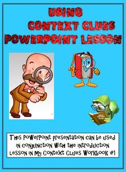 Context Clues PowerPoint Lesson (Correlates with my Workbook)