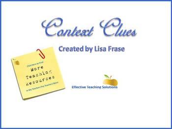 Context Clues PowerPoint for Grades 3 through 12