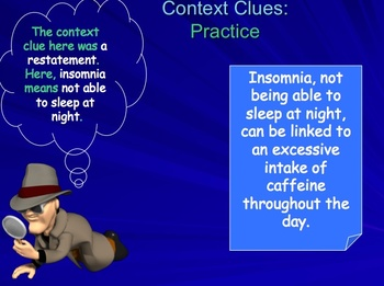 Context Clues PowerPoint lesson and Quiz