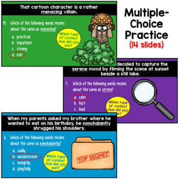 Context Clues PowerPoint (4th, 5th, and 6th grade)