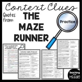 Context Clues Practice #1, Middle School, ELA Test Prep, Maze Runner