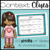 Context Clues Practice - 18 Weeks!!