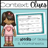 Context Clues Practice - 18 Weeks!!