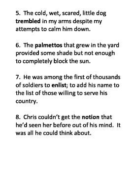 Context Clues Practice 2
