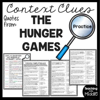 Context Clues Practice #2, Middle School, ELA Test Prep, The Hunger Games