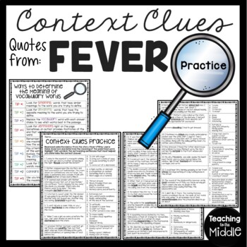 Context Clues Practice #3, Middle School, ELA Test Prep, Fever- 1793