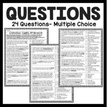 Context Clues Practice #5, Middle School, ELA Test Prep, Tunnels