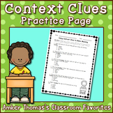 Context Clues Practice Page