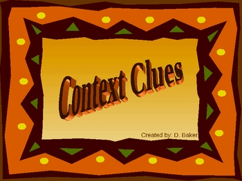 Context Clues Practice Power Point Presentation