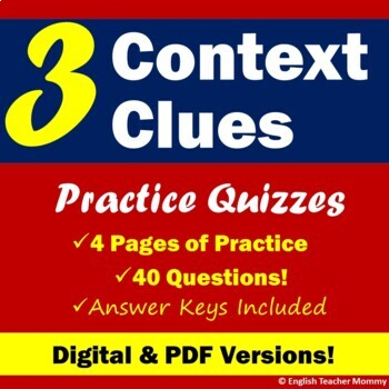 Context Clues Practice Quizzes