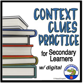 Context Clues Worksheets Middle School And High School By Context Clues For Adults Context Clues Worksheets Middle School And High School