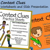 Context Clues - Worksheets and Slide Presentation
