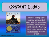 Context Clues Practice with Island of the Blue Dolphins