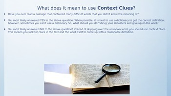 Context Clues Presentation and Practice