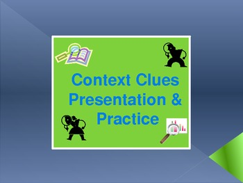 Context Clues PowerPoint Presentation and Practice for Com