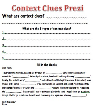 Context Clues for 4th-5th Graders - Everyday Speech - Everyday Speech