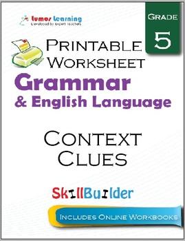 Context Clues Printable Worksheet, Grade 5