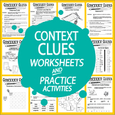 Context Clues Worksheet & Activities Bundle–8 Types of Con