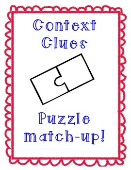 Context Clues Puzzle Match-up