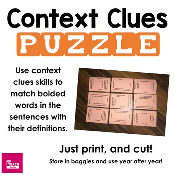 Context Clues Puzzle Using Terms Used Frequently on State Tests