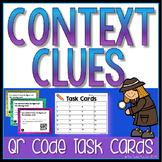 Context Clues QR Code Self Checking Task Cards