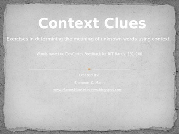 Context Clues: RBI Instructional Tool