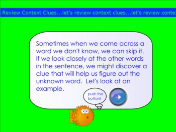 Context Clues Review Smartboard Lesson