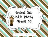 Context Clues Riddle Activity Center