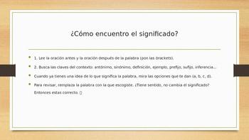 Context Clues SPANISH