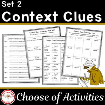 Context Clues Scavenger Hunt Set II