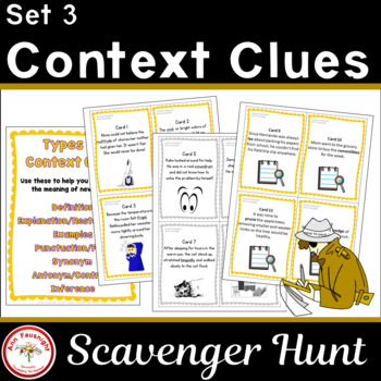 Context Clues Scavenger Hunt Set III