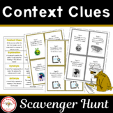Context Clues Scavenger Hunt + Free BOOM Cards